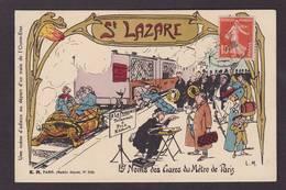 CPA Tortue Turtle Art Nouveau Gare Chemin De Fer Métro Jeu De Cartes Carte à Jouer Playing Cards Circulé - Schildpadden