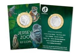 Jersey Two Pound Coin £2 BU Proof Jersey Zoo 2019 - Jersey