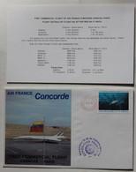 Avion Concorde Premier Vol 14 Février 1976 Caracas Paris Enveloppe Premier Jour First Commercia Flight + Carte - Concorde