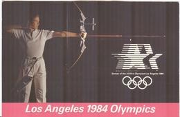 USA Olympic Postcard Archery With Olympic Archery Stamp And Archery Cancel Long Beach - Archery