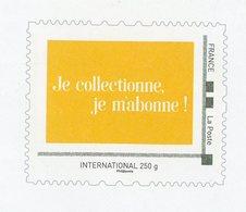 """PERSONNALISÉS - LOGO """"JE COLLECTIONNE. JE M'ABONNE!"""" (ENTIER) -  N° Yvert  (PHILAPOSTE)  LETTRE INTERNATIONAL 250g - France"""