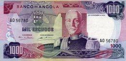 EX/COLONIA - Angola Portuguesa 1000 Escudos 1972 Marchal Carmona A0 56780 - Angola