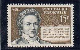 France - 1957 - N° YT 1139** - L-J Thénard - Unused Stamps