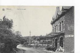 1 Cpa Genval/Rixensart : Hôtel De La Gare, Animation, Voie Ferrée - Rixensart
