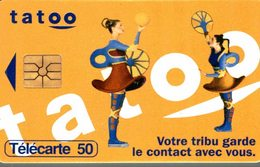 TELECARTE 50 UNITES TATOO - Werbung