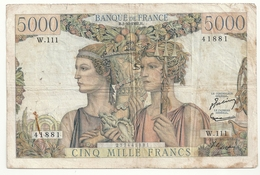 5000 Francs Terre Et Mer 2-10-1952 Alph W.111 - 1871-1952 Antichi Franchi Circolanti Nel XX Secolo