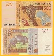 West African States 500 Francs Senegal (K) P-719K 2019 UNC Banknote - États D'Afrique De L'Ouest