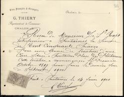 Contrat De Location D'une Cave - 1900 - Timbre Quittances 10 Centimes - France