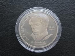USSR Soviet Russia Mikhail Lermontov 1 Ruble 1989 Proof - Russland