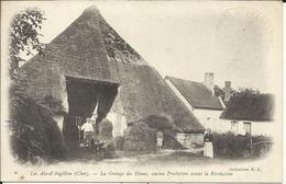 * LES AIX D'ANGILLON , La Grange Des Dîmes , Ancien Presbytère Avant La Révolution , 1915 ,CPA ANIMEE + Cachet Militaire - Les Aix-d'Angillon