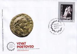Slovenia Slowenien Slovenie: 2019 Cover: Roman Empire; Coins; Vespaswianus Roman Emporer; Vivat Petovio - Archäologie