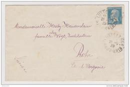 LETTRE LUTTERBACH HAUT RHIN 1929 POUR ROHR ARGOVIE SUISSE - PASTEUR N° 181 - 2 Scans - - Marcophilie (Lettres)