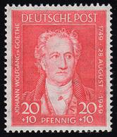 Bizone 109 Goethe 20 Pf. Rot ** Postfrisch - Zona Anglo-Americana