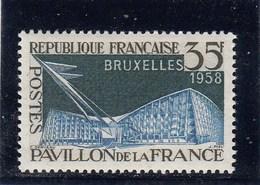 France - 1958 - N° YT 1156** - Exposition De Bruxelles - Neufs