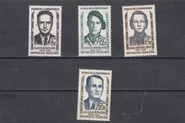 France - 1958 - N° YT 1157/60** - Héros De La Résistance - France