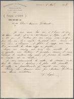 """Courrier """" Etablissement De Pisciculture François Lugrin à Gremaz-sous-Thoiry """" 14/09/1909 - France"""