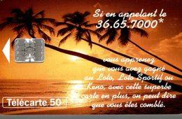 TELECARTE 50 UNITES  LA FRANCAISE DES JEUX - Werbung