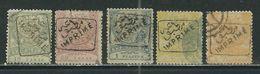 TURQUIE Empire Ottoman Timbres Pour Journaux N° 2 à 6 Obl. Tous TTB - 1858-1921 Ottoman Empire