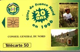 TELECARTE 50 UNITES  GITES DE FRANCE NORD EN 1996 - Werbung