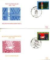 BELGIQUE. N°2167-8 De 1985 Sur 2 Enveloppes 1er Jour. Parti Ouvrier Belge. - FDC
