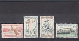 France - 1958 - N° YT 1161/64** - Jeux Traditionnels - Francia