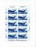 Bloc-Feuillet De 10 Timbres Du N° 64 A: Couzinet 70 Multicolore à 50,00 F. Collection Poste Aérienne. LUXE - Airmail