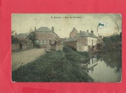 CPA  Abîmée -  Camon   -  Rue Du Ponchet - Francia