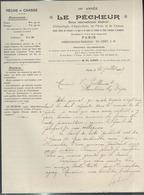 """Courrier """" Le Pêcheur - Revue Internationale Illustrée """" 20/07/1909 - France"""