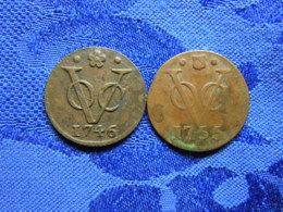 NETHERLANDS EAST INDIES HOLLAN 1 DUIT 1746 KM70, UTRECHT 1 DUIT 1755 KM111.1 - [ 4] Colonies