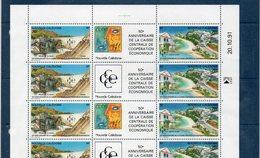 Nouvelle-Calédonie N° 628A Neuf ** En Feuille Complète De 5 Paires Avec Coin Daté - Cote 23,50€ - Nouvelle-Calédonie