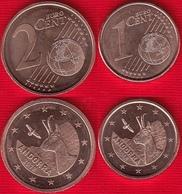 Andorra Euro Set (2 Coins): 1 + 2 Cents 2018 UNC - Andorra
