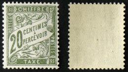 N° TAXE 31 20c Olive Neuf N** TB Cote 15€ - 1859-1955 Mint/hinged