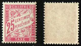 N° TAXE 32 25c Rose Neuf N** TB Cote 13€ - 1859-1955 Postfris
