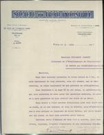 """Courrier """" Société Du Froid Industriel """" 5/06/1909 - France"""
