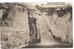 Les Brebets (NE).  Le Saut Du Doubs Gelé. Cpa écrite En 1926. Voir Scans Recto Et Verso.. - NE Neuchâtel