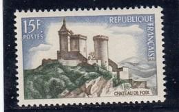 France - 1958 - N° YT 1175** - Château De Foix - Unused Stamps