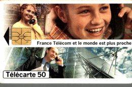 TELECARTE 50 UNITES FRANCE TELECOM ET LE MONDE EST PLUS PROCHE - Werbung