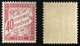 N° TAXE 35 40c Rose Neuf N** TB Cote 30€ - 1859-1955 Postfris