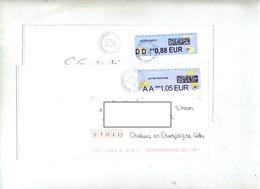 Lettre Cachet Cestas Roissy Sur Vignette - 2000 «Avions En Papier»