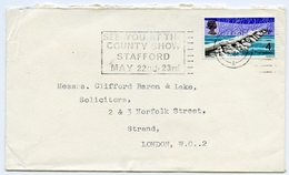 Slogan Postmark On Cover - STAFFORD COUNTY SHOW 1960s / Address - Strand, London - 1952-.... (Elizabeth II)