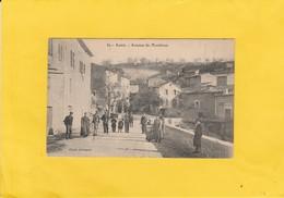 CPA  84 AUREL   AVENUE DE MONTBRUN BELLE ANIMATION - Francia