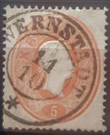AUSTRIA 1860/61 - Verneřice / WERNSTADT Cancel - ANK 20 - 5kr - Gebraucht