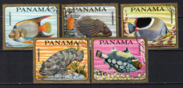 PANAMA - 1968 - SERIE PESCI - MARINE LIFE - USATI - Panama