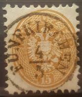 AUSTRIA 1863/64 - FÜNFKIRCHEN Cancel - ANK 34 - 15kr - Gebraucht