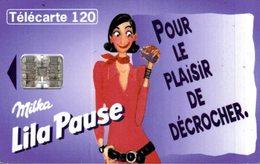TELECARTE 120 UNITES  MILKA LILA PAUSE - Werbung