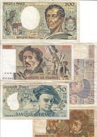 France Lot 5 Banknotes - 1962-1997 ''Francs''