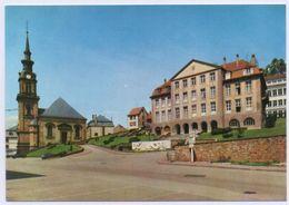 57 BITCHE - N°4 - Edts A.Pierron - La Mairie, L'Église Sainte Catherine. Le Monument Aux Morts. - Bitche