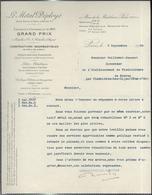 """Courrier """" Le Métal Déployé """" 7/09/1908 - France"""
