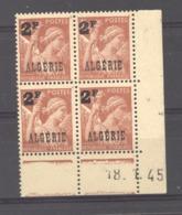 Algérie  :  Yv 233  **  Coin Daté Du   18-1-45 - Algeria (1924-1962)