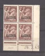 Algérie  :  Yv 234  **  Coin Daté Du   26-2-45 - Algeria (1924-1962)